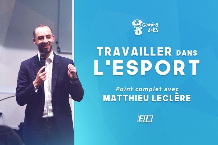 Logo du partenaire Travailler dans l'esport : Point complet avec Matthieu Leclère de Gaming Jobs ! - Esport insights