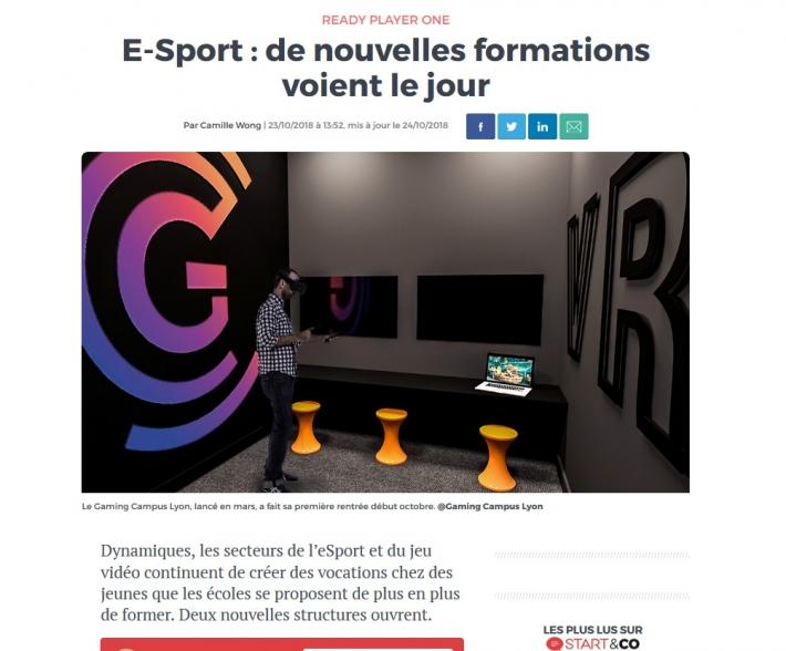 Logo du partenaire E-Sport : de nouvelles formations voient le jour - Les Echos